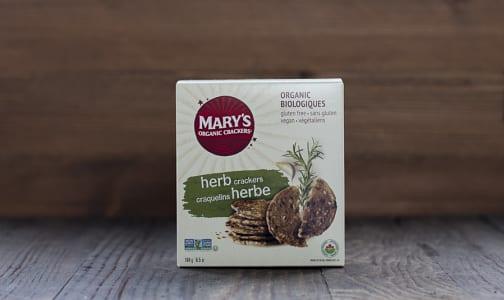 Organic Crackers, Herb- Code#: SN007