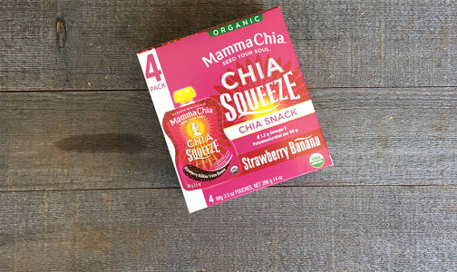 Organic Chia Squeeze Strawberry Banana- Code#: SN0086