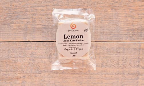Organic Lemon Clean Keto Fat Bar - Net Carbs: 2 g- Code#: SN0155
