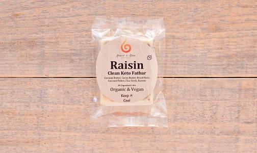 Organic Raisin Keto Fat Bar - Net Carbs:5 g- Code#: SN0159
