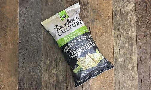 Organic Kraut Krisps Probiotic Tortilla Chips - Dill Pickle- Code#: SN0193