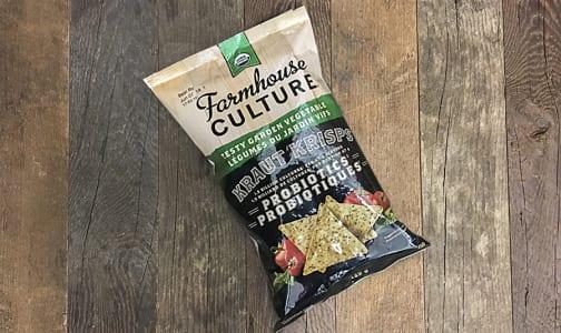 Organic Kraut Krisps Probiotic Tortilla Chips - Zesty Garden Vegetable- Code#: SN0195