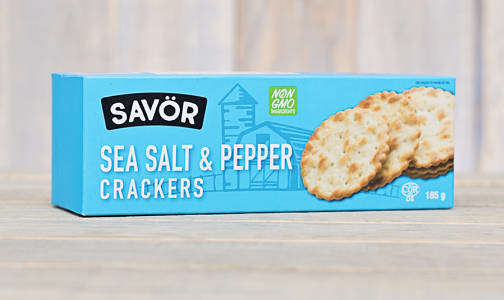 Sea Salt & Pepper Crackers- Code#: SN0213