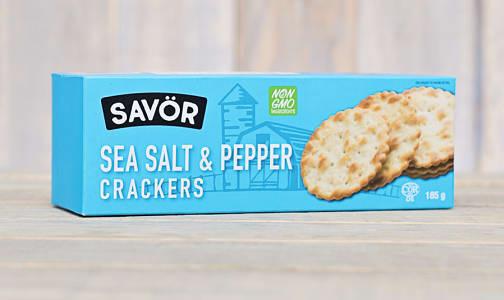 Sea Salt & Pepper Crackers- Code#: SN0213