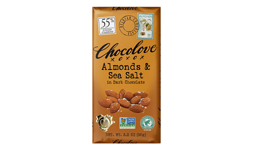 Chocolate Bar - Almond Sea Salt 55%- Code#: SN0370