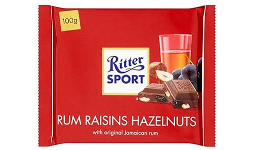 Rum, Raisin & Nut Chocolate Bar- Code#: SN0407