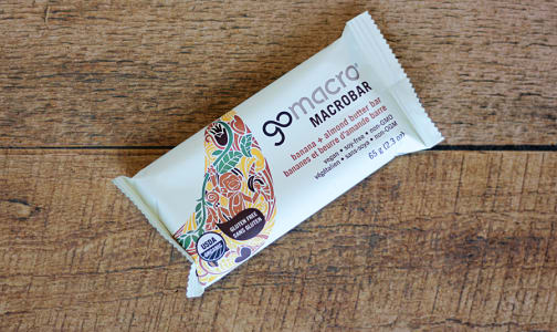 Organic Banana + Almond Butter Bar- Code#: SN0563