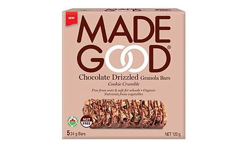 Organic Chocolate Drizzled Cookie Crumble Granola Bars- Code#: SN0660