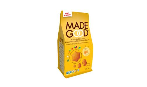 Organic Star Puffed Crackers - Cheddar- Code#: SN0663