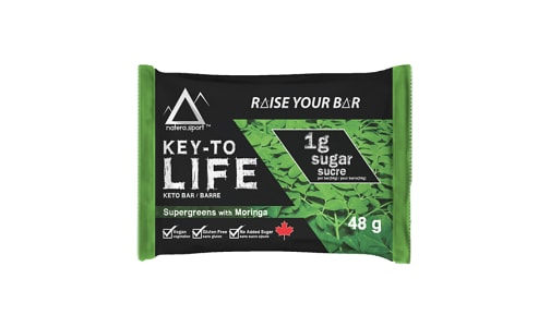 Keto Bar - Supergreens with Moringa- Code#: SN0766