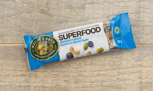Organic Superfood Blueberry Cashew Bar- Code#: SN0893