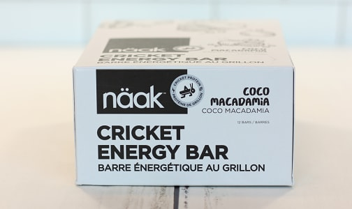 Cricket Energy Bar - Coco Macadamia- Code#: SN1008