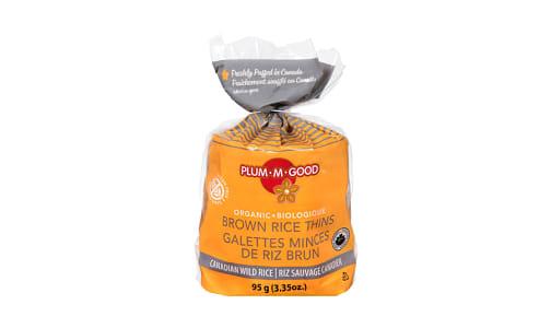 Organic Rice Thins - Wild Rice- Code#: SN1152