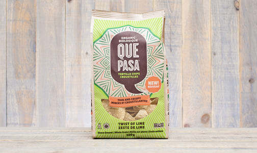 Organic Thin Crispy Twist of Lime Tortilla Chips- Code#: SN1243