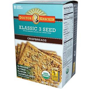 Organic Crispbread, 3 Seed Klassic- Code#: SN1403