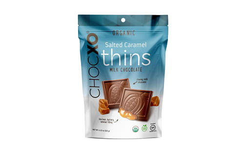 Organic Milk Chocolate Salted Caramel Thins- Code#: SN1499