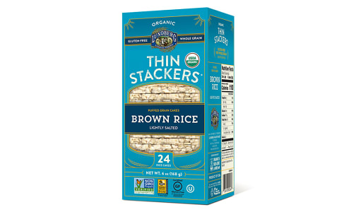 Thin Stackers - Brown Rice Lightly Salted- Code#: SN1657