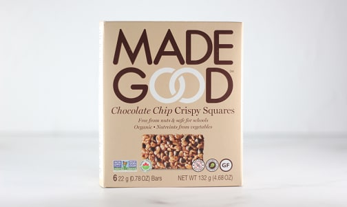 Organic Crispy Squares - Chocolate Chip- Code#: SN1669