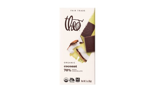 Organic Chocolate Bar - 70% Coconut- Code#: SN1697