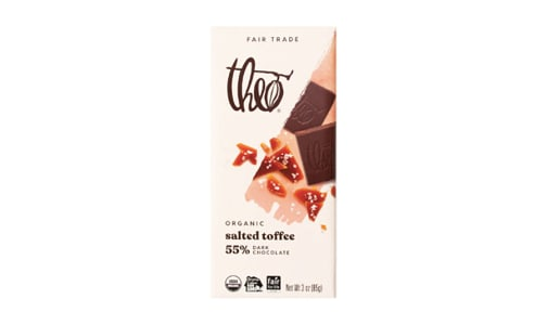 Organic Chocolate Bar - 55% Dark Toffee- Code#: SN1699