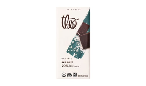 Organic Chocolate Bar - 70% Dark Sea Salt- Code#: SN1704