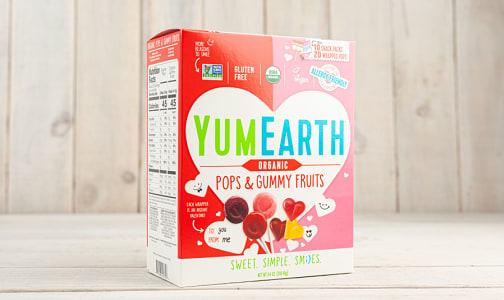 Organic Assorted Valentine's Gummy Pops & Fruits- Code#: SN1707