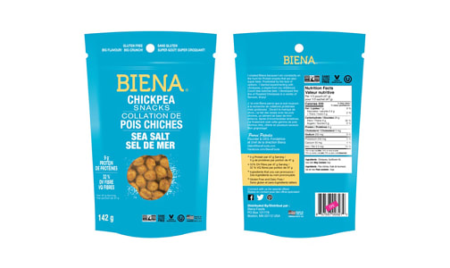 Chickpea Snacks - Sea Salt- Code#: SN1709