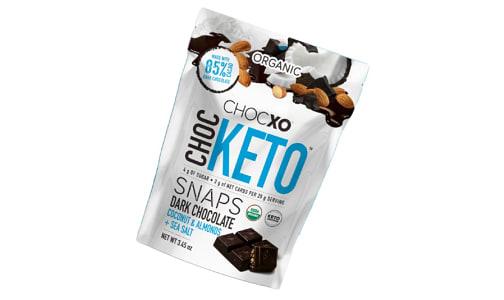 Organic ChocKETO Coconut, Almond, and Sea Salt Snaps- Code#: SN1810