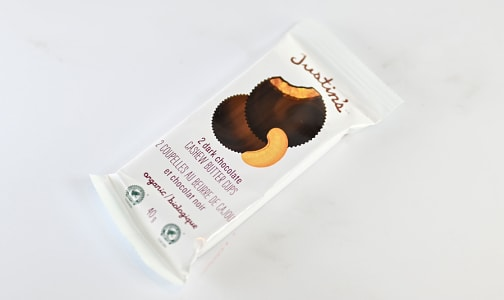 Organic Dark Chocolate Cashew Butter Cups- Code#: SN1813