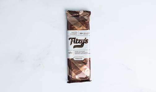 Organic Dark Chocolate Salted Caramel Bar- Code#: SN1822