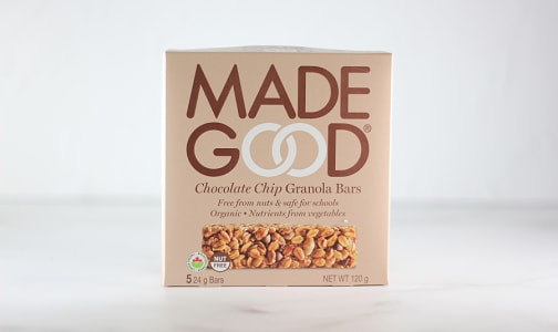 Organic Chocolate Chip Granola Bars- Code#: SN1870
