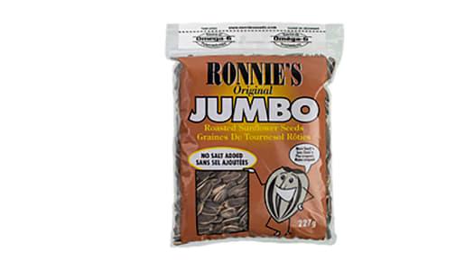 Ronnies - Jumbo Sunflower Seeds, No Added Salt- Code#: SN1971
