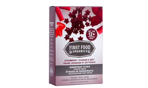 Organic Superfruit Stars: Strawberry, Rhubarb & Beet- Code#: SN1979