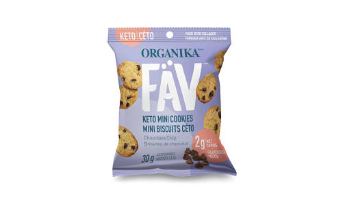 FaV Keto Mini Cookies - Chocolate Chip- Code#: SN2001