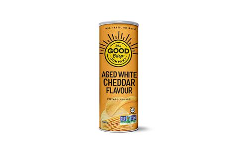 Aged White Cheddar Potato Crisps- Code#: SN2134