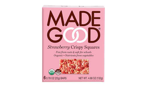 Organic Crispy Squares - Strawberry- Code#: SN2205
