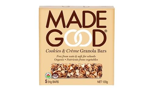 Organic Cookies & Creme Granola Bars- Code#: SN2206