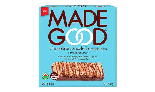 Organic Chocolate Drizzled Vanilla Granola Bars- Code#: SN2210