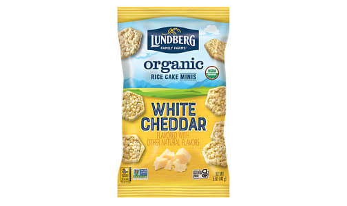 Organic Rice Cake Mini White Cheddar- Code#: SN2341