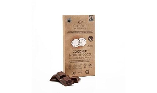 Organic Coconut Chocolate Bar 72%- Code#: SN2351