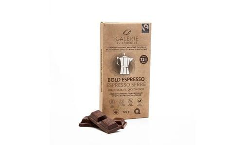 Organic Espresso Chocolate Bar 72%- Code#: SN2352