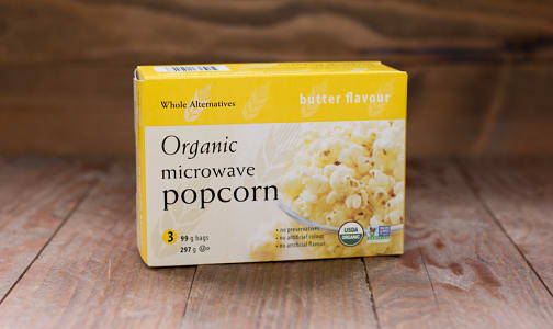 Organic Buttered Microwave Popcorn- Code#: SN248