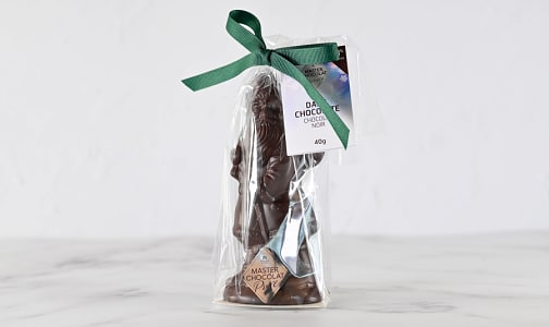 Small Dark Chocolate Santa 40g- Code#: SN3082