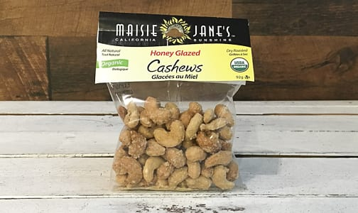 Organic Honey Glazed Cashews- Code#: SN3563