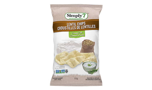 Lentil Chips - Creamy Dill- Code#: SN4373
