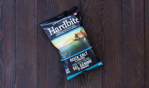 Hardbite Potato Chips, Rock Salt & Vinegar- Code#: SN482