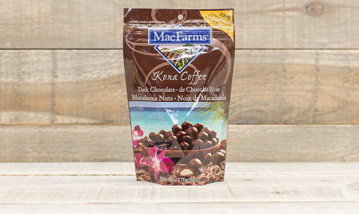 Kona Coffee Dark Chocolate Macadamias- Code#: SN534