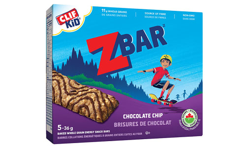 Organic Zbar Chocolate Chip Bar- Code#: SN598