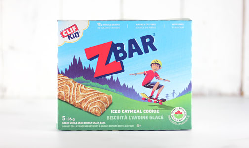 Organic Zbar Iced Oatmeal Cookie Bar- Code#: SN599