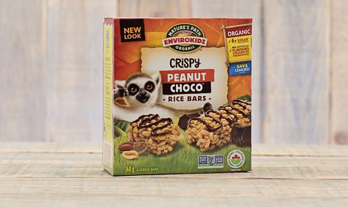 Organic Peanut Choco Drizzle Crispy Rice Lemur Bars- Code#: SN628